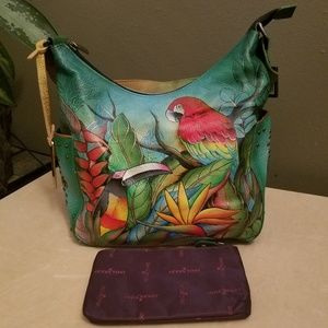 Anuschka Tropical Bliss Hand-painted leather bag